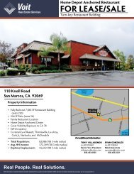 FOR LEASE/SALE - Voit Real Estate Services