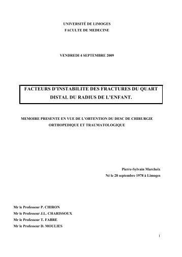 Pierre sylvain Marcheix - desc orthopedie