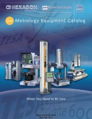Metrology Equipment Catalog - Rapp Industrial Sales
