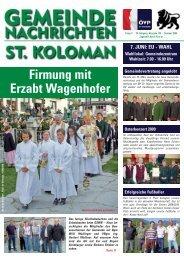 Gemeindezeitung Sommer 2009 - St. Koloman
