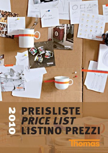2010 PREISLISTE PRICE LIST LISTINO PREZZI - Rosenthal