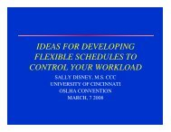 ideas for developing flexible schedules to control your workload