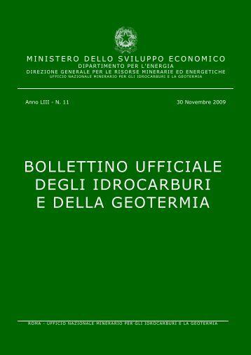 BUIG - Bollettino Ufficiale degli Idrocarburi e della Geotermia - Anno ...
