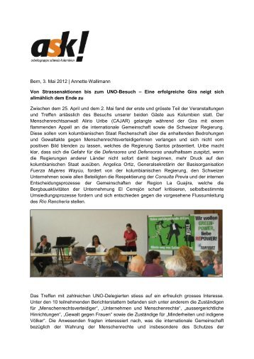 Download PDF - ask! Arbeitsgruppe Schweiz-Kolumbien