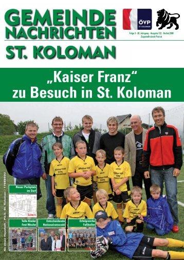 Gemeindezeitung Herbst 2008 - St. Koloman