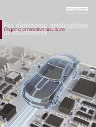 in automotive For electronic applications