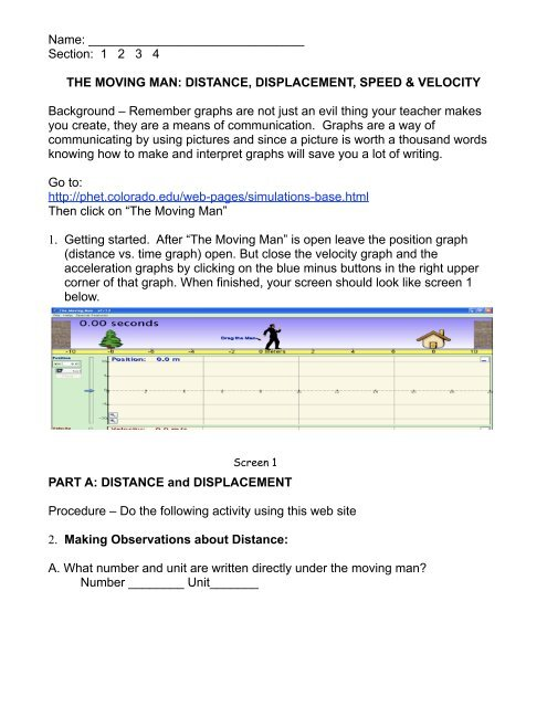 Moving Man Worksheet pdf