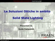 Sistemi ottici per modulare la Luce - Tecnoimprese