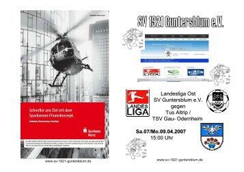 Altrip und Gau-Odernheim Stadionheft - sv-1921-guntersblum.de