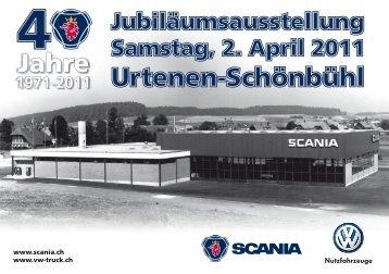 Einladung: Jubiläumsausstellung 40 Jahre Urtenen-Schönbühl