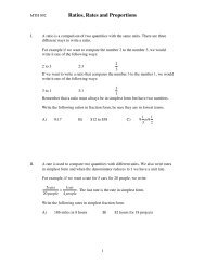 Ratios, Rates and Proportions Worksheet