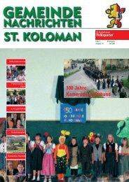Gemeindezeitung Sommer 2006 - St. Koloman