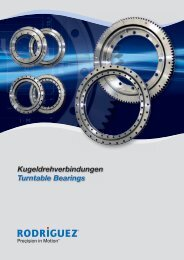 Kugeldrehverbindungen Turntable Bearings - Rodriguez