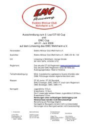 Ausschreibung zum 2. Lauf DT-02 Cup und EMC Cup am 21. Juni ...