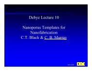 Debye Lecture 10 Nanoporus Templates for ... - Debye Institute