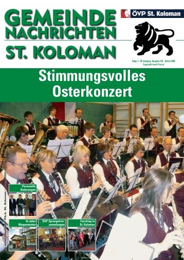 Gemeindezeitung Frühjahr 2008 (0 bytes) - St. Koloman