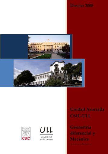 Unidad Asociada CSIC-ULL Geometría diferencial y ... - ICMAT