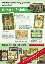 Spezial-Angebot Kunst auf Aktien - HWPH AG