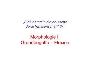 Morphologie I: Grundbegriffe – Flexion