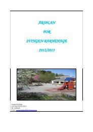 Last ned årsplan for Svingen barnehage 2012/2013 - Fjell kommune