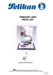 Pelikan Luxury PRICE LIST February 2009 - Stone Marketing
