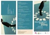 Value Management Kongress - Fachbereich für Wirtschafts- und ...