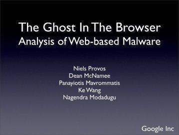 Analysis of Web-based Malware - Citi