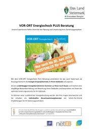 VOR-ORT Energiecheck PLUS Beratung - Netzwerk ...
