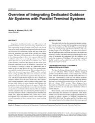 Overview of Integrating Dedicated Outdoor Air Systems with Parallel ...