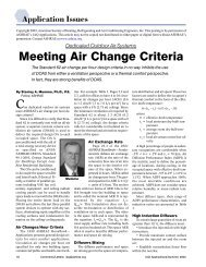 Meeting Air Change Criteria - Dedicated Outdoor Air Systems (DOAS)
