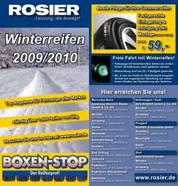 Winterreifen 2009/2010 - Autohaus Rosier