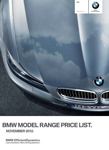 bmw model range price list.