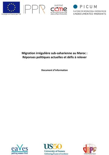 Note d'information - français - PICUM
