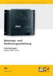 Anleitung Solarix MPPT - Esomatic.de