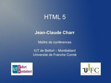 HTML5 - Cours-info - Université de Franche-Comté