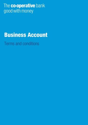 Terms and conditions - The Co-operative Bank