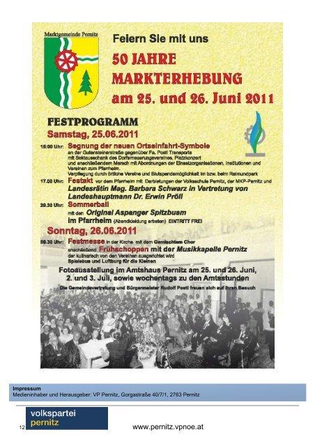 Ordentlicher Gemeindeparteitag 2011 - Pernitz - Volkspartei ...