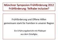 Offenen Hilfen - Arbeitsstelle Frühförderung Bayern