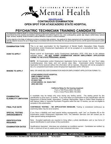 State Examination Employment Application Std Form 678 Dolap