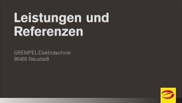 Leistungen und Referenzen - grempel-elektrotechnik.de