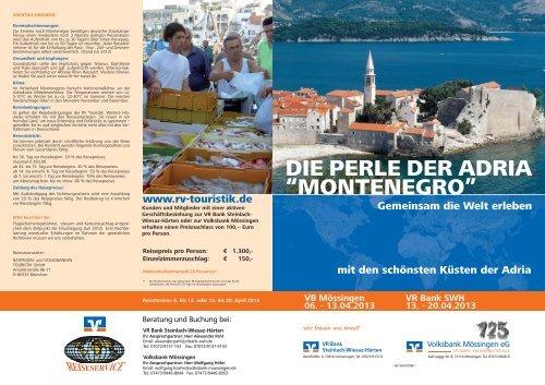 Zum Reiseprospekt - VR Bank Steinlach-Wiesaz-Härten eG