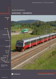 BARKÅKER - TØNSBERG - Jernbaneverket