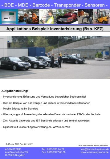 KFZ Erfassung - Terminal Systems