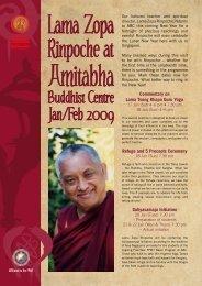 Lama Zopa Rinpoche at - Amitabha Buddhist Centre