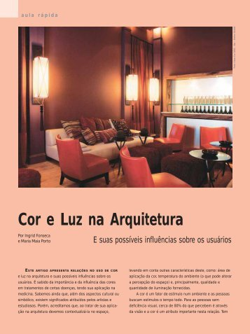 Cor e Luz na Arquitetura - Lume Arquitetura
