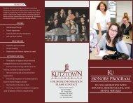 honors Program - Kutztown University