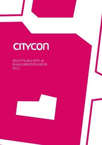 Selvitys Citycon-konsernin hallinto- ja ohjausjärjestelmästä