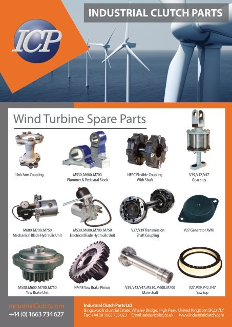 Wind Turbine Spare Parts Industrial Clutch Parts Limited