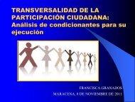 TRANSVERSALIDAD DE LA PARTICIPACIÓN CIUDADANA ...