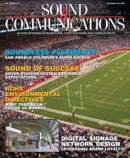 Sound & Communications November 2007 Issue